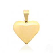 Stainless steel charms heart Gold