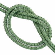DQ trendy cord woven Dark Meadow Green