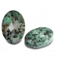 Natural stone beads faceted oval Turquoise Green
