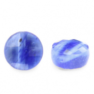 Natural stone beads faceted round 7mm Iolite Blue