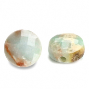 Natural stone beads faceted round 7mm Light Turquoise