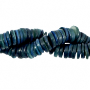 Shell beads disc 9mm Evening Blue