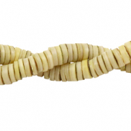 Shell beads disc 3mm Vanilla Beige