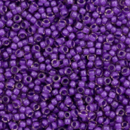 Miyuki seed beads 11/0 Semi Frosted Dark Lilac Lined Light Amethyst 11-1932