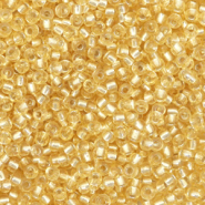 Miyuki seed beads 11/0 Silverlined Light Gold 11-2