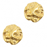 DQ European metal charms connector irregular Gold (nickel free)