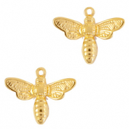 DQ European metal charms bee Gold (nickel free)