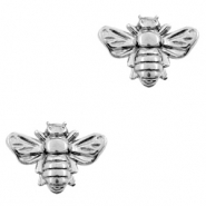 DQ European metal beads bee Antique Silver (nickel free)