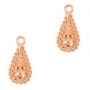DQ European metal charms drop Rose Gold (nickel free)
