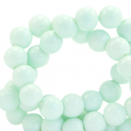 4 mm glass beads opaque Soothing Sea Blue