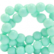 6 mm glass beads opaque Mint Turquoise