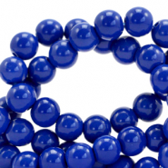 6 mm glass beads opaque Strong Blue