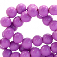 4 mm glass beads opaque Sheer Lilac