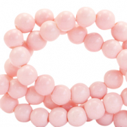 6 mm glass beads opaque Blossom Pink