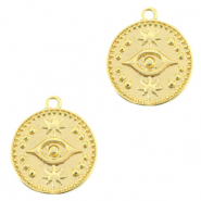 Brass TQ metal charms Eye Gold