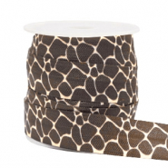 Elastic ribbon giraffe Brown