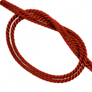 Trendy cord woven Rusty Red
