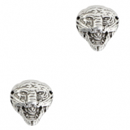 DQ European metal beads tiger Antique Silver (nickel free)