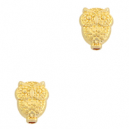 DQ European metal beads owl Gold (nickel free)