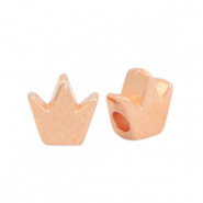 DQ European metal beads crown Rose Gold (nickel free)