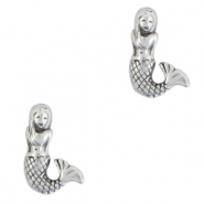 DQ European metal beads mermaid Antique Silver (nickel free)