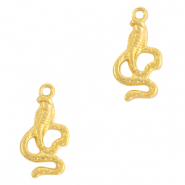 DQ European metal charms cobra Gold (nickel free)