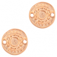 DQ European metal charms connector Ethnic with setting for SS20 flatback Rose Gold (nickel free)