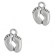 DQ European metal charms feet Antique Silver (nickel free)
