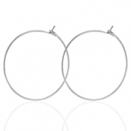 Stainless steel earrings 25mm Silver
