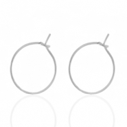 Stainless steel earrings 15mm Silver