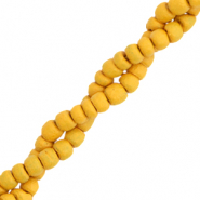 Coconut beads disc 4mm Honey Orange