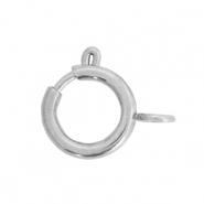 Stainless steel findings clasp 10x12mm Silver