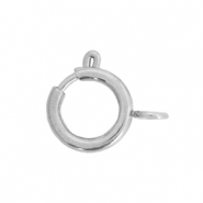 Stainless steel findings clasp 8x10mm Silver