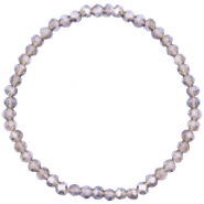 Top faceted bracelets 4x3mm Greige Purple-Pearl Shine Coating