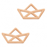 DQ European metal charms connector boat Rose Gold (nickel free)