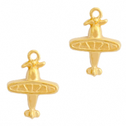 DQ European metal charms plane Gold (nickel free)
