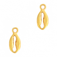 DQ European metal charms Cowrie shell Gold (nickel free)