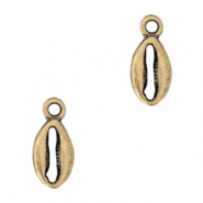 DQ European metal charms Cowrie shell Antique Bronze  (nickel free)