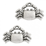 DQ European metal charms crab Antique Silver (nickel free)