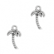 DQ European metal charms palmtree Antique Silver (nickel free)