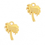 DQ European metal charms palmtree Gold (nickel free)