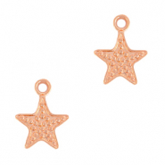 DQ European metal charms seastar Rose Gold (nickel free)