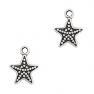 DQ European metal charms seastar Antique Silver (nickel free)