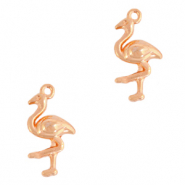 DQ European metal charms flamingo Rose Gold (nickel free)