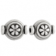 DQ European metal beads flower Antique Silver (nickel free)