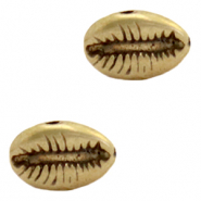 DQ European metal beads Cowrie shell Antique Bronze  (nickel free)