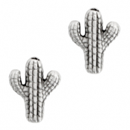 DQ European metal beads cactus Antique Silver (nickel free)