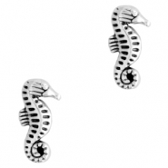 DQ European metal beads seahorse Antique Silver (nickel free)