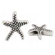 DQ European metal beads seastar Antique Silver (nickel free)