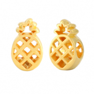 DQ European metal sliders pineapple Gold (nickel free)